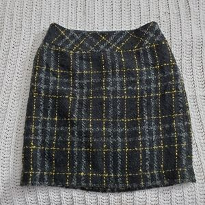 Plaid loft skirt
